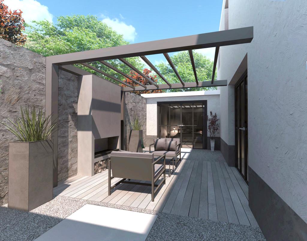 Moderne stadsvilla 360 design group for Buiten patio model